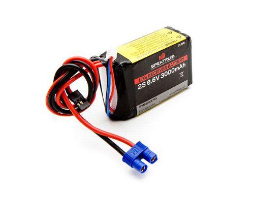 3000mAh Spektrum 2S 6 6V Li-Fe RX Battery