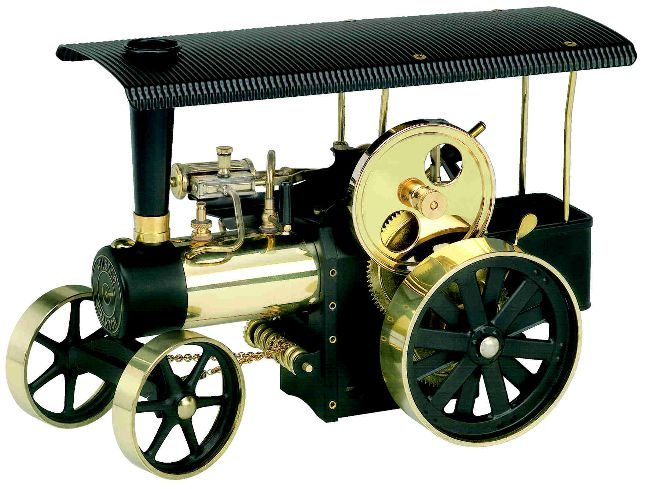 WILESCO D416 STEAM TRACTION ENGINE KIT (BLACK AND BRASS)